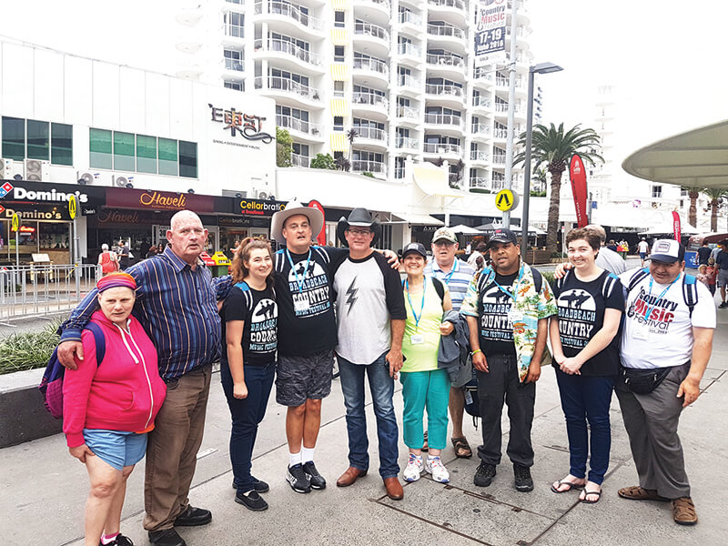holiday for people with disabilities - gold coast country music festival queensland