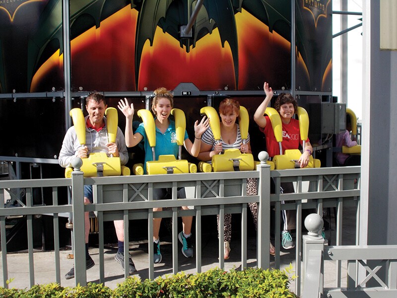 supported holiday - gold coast theme parks queensland