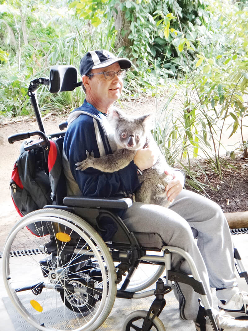 holiday for people with disabilities - port stephens retreat new south wales